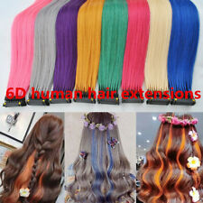 6D Pre-bonded Remy Real Human Hair Extensions 20gram 40strands  8Rows 14-30Inch