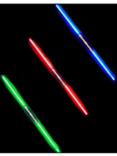 """52"""" Red Blue And Green Double Bladed Dual 2-Sided Lights Sword Sabers Bundle"""