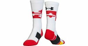 UNDER ARMOUR MARYLAND TERRAPINS UNRIVALED NCAA MENS SOCKS 8-12 LARGE BRAND NEW