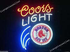 17X14 Coors Light Boston Red Sox Handcrafted BEER BAR NEON LIGHT SIGN DISPLAY