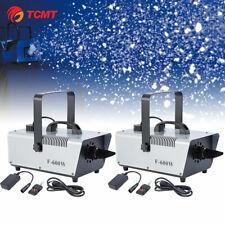 2Pcs 600W Snow Maker Snowflake Machine Stage Flake Effect Two Speed Maker 60m³