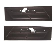 Mustang Door Panels Standard Vinyl Pair 1970 Black - TMI
