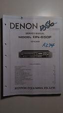 Denon dn-650f service manual original book stereo compact cd disc player