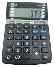 Canon Calculator LS-120TS 12 Digits Solar Powered Clean & Working