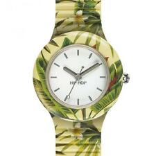 HIP HOP OROLOGIO JUNGLE FEVER Yellow DONNA HWU0779 giallo NEW watch FIORI FOGLIE