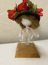 "Vintage Antique Victorian Style Doll Hat and Wig For French/German 16�-18"" Doll"