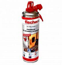 12 x Fischer 2K PU 400 Premium 2K Schnellschaum Montageschaum Zargenschaum PU-Sc