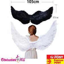 105cm X 45cm Feather Wings White Angel Fairy Black Devil Wing Halloween Costume