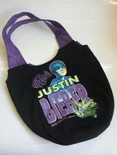 Justin Bieber Tote Bag Runaway Love 2010 Canvas-Never Used-faux leather purse