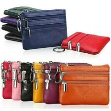 Womens Mini Leather Purse Handbag Small Coin Holder Card Key Ring Wallet Pouch