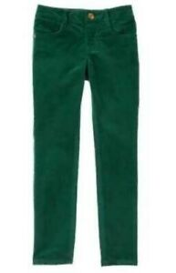 NWT Gymboree All Spruced Up Christmas Super Skinny Green Velveteen 5-Pocket Pant