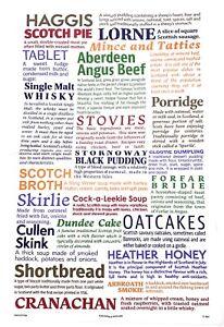 100% Cotton Tea Towel - Scottish Delicacies