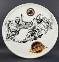 "Vancouver Canucks NHL Hockey Collector Plate 8"" Danesco Montreal 1993 Skate Logo"