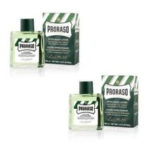 PRORASO AFTERSHAVE  Twin Pack bottles 100ml Menthol Eucalyptus