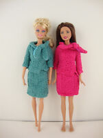 A Professional Office Set with 2 Pc Knit Dresses Total of 4 Pcs Blue and Pink Ja