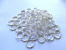 Silver Colored Jump Rings. 4mm Approx. 100 Pieces.