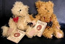 Teddy Bear Set w/ Heart Boyds Plush Friendship floppy jointed valentine #50009