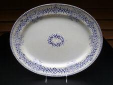 """Antique ceramic slate blue platter """"REGENT"""" by J.T. Hudden 27 July 1869 England"""