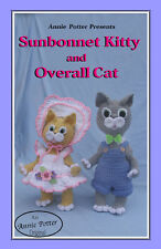 Crochet Sunbonnet Kitty and Overall Cat  doll pattern by Annie Potter Originals