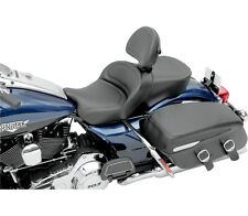SADDLEMEN GEL SEAT W/DRIVER BACKREST HARLEY FLTR ROAD GLIDE FLTRX 2008-2013