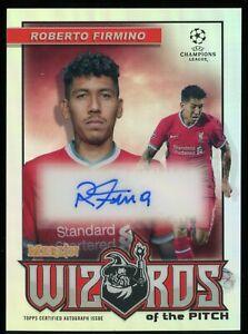 2020-21 Topps Chrome Merlin UEFA Wizards Roberto Firmino Autograph Auto 30/100