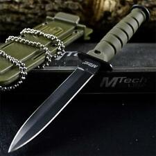 "6"" COMBAT TACTICAL NECK KNIFE Survival Boot MILITARY BOWIE Fixed Blade + SHEATH"