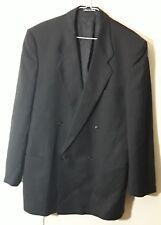 Giorgio Armani Mens Jacket Blazer 42L Pin Stripe Double Breastead Made in Italy