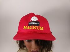 Vintage MAGNUM Williams Polar Bear Red String Hat