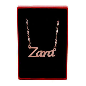 ZARA Name Necklace Stainless Steel / 18ct Rose Gold Plated | Stylish Gifts