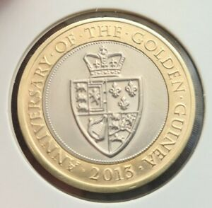 2013 THE GOLDEN GUINEA 2pound Coin Great Condition FREE COIN CAPSULE
