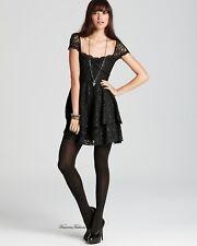 Free People Black Rock Candy Lace dress size 12! NWT!