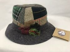 Hanna Hats Walking Hat in Patchwork Tweed, Men's Size M New