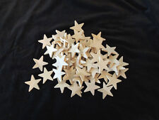 Natural Unfinished Wooden Star Cutout Shape -7O Pieces 2-1/4 inches