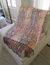 """Woven Fringed Paisley Throw Blanket 70"""""""