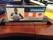 NY KNICKS Amare Stoudemire Jersey Swatch Commemorative Display