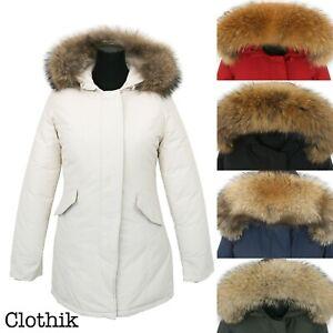 PARKA DONNA NEW! giubbotto giaccone invernale con pelliccia arctic artic V003