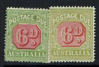 Australia SG# D97, Mint Hinged, 2 color varieties - Lot 021217