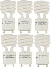 6 pack of 13 watt GU24 Twist and Lock Spiral CFL Light Bulbs 13W =60W 2700K Eiko
