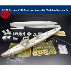 1/200 Scale German V170 Destroyer Assembly Model Kit w/Upgrade Set