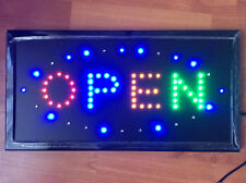 Top Quality Flashing Colour PLAIN OPEN Shop Sign Neon Display Window Light