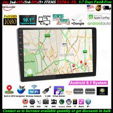10''2 Din GPS Android Car Radio Airplay+Carplay Wifi BT FM iOS Touch Screen Siri