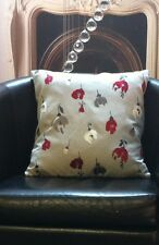 Beige With Red Floral Design Evans Lichfield Cushion Cover