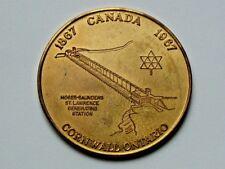 Cornwall Ontario CANADA 1867-1967 Centennial DOLLAR Bilingual Token Hydro Dam