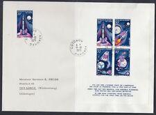 Dahomey 1970 FDC Bl.17, 407 B Weltraum Space Espace