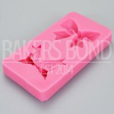 Double Bow Silicone Mould Romantic Two Wedding Chocolate Cake Baking Icing Ice
