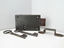Ancienne Serrure en applique + 2 clés et gâche,Fonctionne,Lock Door