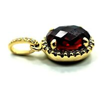 14k Garnet Diamond Small Pendant