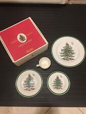 Spode Christmas Tree - Green Trim - 4 Piece Place Setting with Box (England)