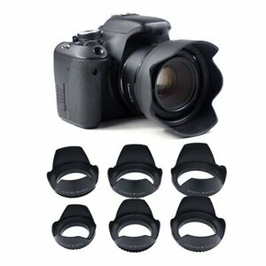 49/62/67/72/77mm Digital Camera Flower Lens Hood For Universal Canon Nikon Sony