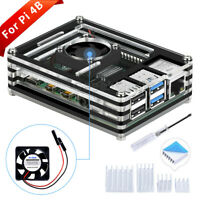 New Raspberry Pi Acrylic Case 9 Layers With Cooling Fan Fit For Raspberry Pi 4B